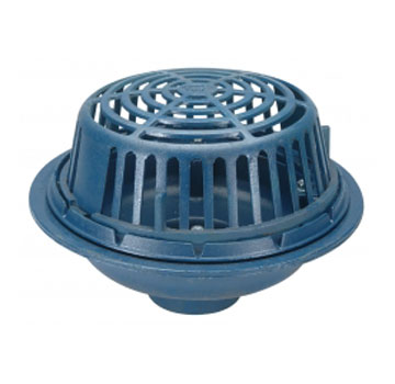 Zurn Z100 Roof Drain, Poly Dome, No-Hub 8 Inch Outlet - ZURN Z100 15 INCH ROOF DRAIN WITH POLY DOME, NO-HUB 8 INCH OUTLET. PRICE/EACH.