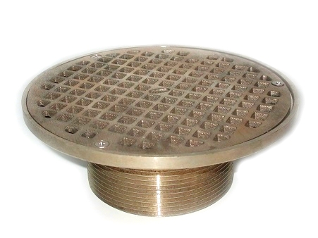 Zurn ZN400-5 Floor Drain Strainer, 5 in. Round, Polished Nickel-Bronze - Zurn ZN400-5B Floor Drain Strainer Top. 5 inch Round, Adjustable Type-S Square Strainer, Heel-Proof Grate. Polished Nickel Bronze Strainer. Fits Z415 Base. Price/Each.