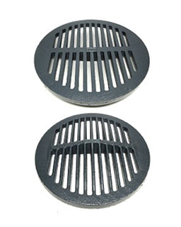 Zurn 11-3/16 OD x 5/8 Flat Top Round Drain Grate, Cast Iron - Zurn 50453-1 Flat Top Round Drain Grate, 11-3/16 OD x 5/8 Thick Cast Iron, 3/8 wide slots, epoxy coating. 33 sqin open grate area. Fits Z504 / Z526 / Z532 / Z534 / Z539 / Z541 drains. Price/Each. (top and bottom view shown in photo, only 1 unit supplied)