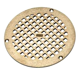 Zurn 46272-1 / PN400-8B-STR  Flat Round Drain Grate, 7-11/16 OD, ZN - Zurn 46272-1 / PN400-8B-STR, Flat Round Drain Grate, 7-11/16 OD x 5/32 Thick Rim, Mill Finish Nickel-Bronze (ZN). Fits Z400 and Z415 Type B Drains. Includes Screws. Price/Each. (leadtime 3-10 days)