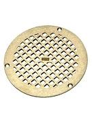 Zurn 46243 1 Pn400 5b Str Flat Round Drain Grate 5 Od Zn