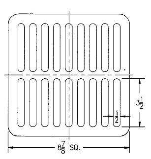 Zurn 11 1 4 Od X 5 8 Flat Square Drain Grate Cast Iron