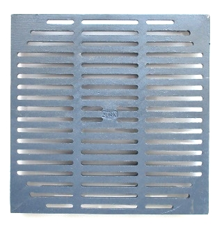 Zurn #52095-1, 12-13/16 Square Drain Grate, 5/16 Rim - Zurn 52095-1, 12-13/16 inch Square Drain Grate, 5/16 thick at rim, 1/4 inch Grate Width, 1.5 inch thick overall, Cast Iron, Flat Top. Fits Zurn Z150 series deck drains. Price/Each. (aka #P150-grate; shipping leadtime 2-3 days)