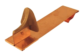 Berger 100S-RH Slate, Tile & Shingle Roof Snow Guard, Hooked - Berger 100S-RH Cast Bronze Head Snow Guard with Hooked End. For installation on EXISTING or new Slate, Tile, Cedar Shingle. Price/Each. (UPS shipping only; special order 1-2 week leadtime)
