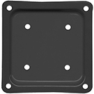Deck Rail Post Brackets, 4x4, BLACK color (box/50)