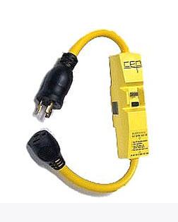 Gfci Protected Extension Cord 2 Ft 15a120v Single Nema 5 15
