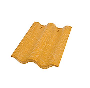 Synthetic Mission Roof FIELD Tiles, GOLDEN ROD color (1) - Quarrix Mission / Spanish Roofing FIELD Tiles (Double Roman), GOLDEN ROD Color. Price/Tile. (special color; leadtime 1-3 weeks)