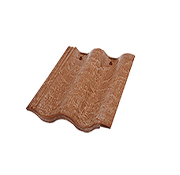 Synthetic Mission Roof FIELD Tiles, SADDLE BROWN color (1) - Quarrix Composite Mission / Spanish Roofing FIELD Tiles (Double Roman), SADDLE BROWN Color. Price/Tile. (special color; leadtime 1-3 weeks)