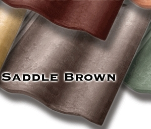 Synthetic Mission Roof Field Tiles Saddle Brown Color 1