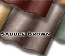 Synthetic Mission Roof FIELD Tiles, SADDLE BROWN color (1)