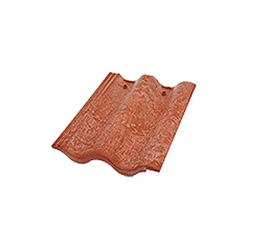 Synthetic Mission Roof FIELD Tiles, CANYON EARTH color (1) - Quarrix Composite Mission / Spanish Roofing FIELD Tiles (Double Roman), CANYON EARTH (red-brown) Color. Price/Tile. (shipping leadtime 2-5 days)