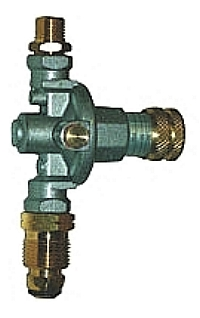 14-57 PSI Adjustable Propane Gas Regulator, POL Fitting, Hose Failure Valve - Sievert #3061-23 14-57 PSI Adjustable Propane Gas Pressure Regulator, with Hose Failure Test Valve, POL Inlet Fitting. 9/16-18 Left-Hand MPT Outlet. Price/Each.