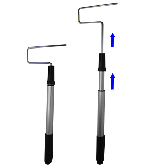 Extendable Paint Roller Frame (18 in. - 36 in.) - 18 inch - 36 inch Extendable Roller Frame. Fits Roller Lite 4 and 6-1/2 inch Mini Rollers. Price/Each.