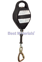 15 ft. Retracting Lifeline HeavyWeight, Alum. Housing, Galv. Cable