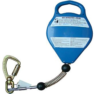 20 ft. Retracting Lifeline HeavyWeight, Alum. Housing, Galv. Cable - 20 ft. X 3/16 in. HeavyWeight SRL; 400 lbs. capacity; Durable Aluminum Housing, Galvanized Steel Cable, Load-Indicating Swivel Carabiner with 3,600 lbs. gate strength. Price/Each. (3-5 day lead time)