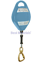 50 ft. Retracting Lifeline, Alum. Housing, Steel Cable, Steel Carabiner