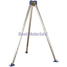 6-11 ft. Adjustable Aluminum Tripod, Bracket, Integral Pulley