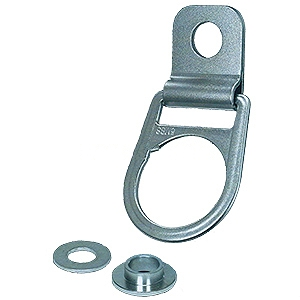 Rotating Multi-Use D-Ring Anchor with Bushing - Rotating Multi-Use D-Ring Anchor with Stainless Steel Bracket and Zinc Plated Carbon Steel Bushing. Price/Each. (3-5 day lead time)