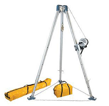 Confined Space Tripod Kit | 7275 Tripod, 7297S Winch, 7280/7282 Bags - FallTech 7505S Confined Space 60 Foot Tripod Kit. Includes 7275 Tripod, 7297S Stainless Steel Winch, 7280 and 7282 Storage Bags. Price/Kit. (Shipping leadtime: 3-5 days)