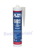 ASI 502  Silicone Sealant, CLEAR  Acetoxy RTV Medium-Temp
