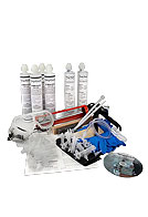 Concrete Wall Crack Repair Kit, Epoxy Injection, 6-10 ft.