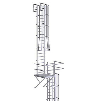 Alaco 561 Cp Fixed Wall Mount Ladder W Cage Amp Platform