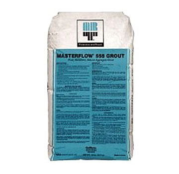 MasterFlow 555 Semi-fluid, Nonshrink Min-Agg. Grout 50-lb (60 bags) - BASF Masterflow 555, Semi-fluid, Non-shrink mineral-aggregate grout, 8500 PSI. 50-Lb/Bags. 60 Bags/Pallet. Price/Pallet. (aka BASF # 51680871; shipping leadtime 2-4 business days)