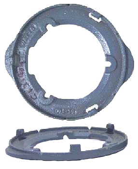 8 in. Universal Clamping Ring, Cast Iron - 8 inch Diameter Universal Membrane Flashing Clamp / Gravel Stop, Cast Iron. Fits Watts RD-200 and many 7-1/2 to 8 inch Drains / Domes. 9-1/4 OD with 5.25 bolt circle. Price/Each. (watts # B3-FLG)