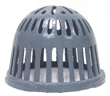 7-5/8 in. Cast Iron Replacement Drain Dome / Strainer - 7-5/8 OD x 6-1/4 High Cast Iron Roof Drain Dome Strainer. Epoxy Coated Cast Iron replacement drain dome / strainer fits Watts 200 series and other popular 8 inch roof drains. Price/Each. (shipping leadtime 2-3 business days)