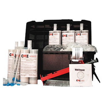 Concrete Wall Crack Urethane Injection Repair, Contractors Kit, 30-Foot - Concrete Wall Crack Repair Contractors Kit. Everything needed to repair up to a 30