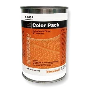 Custom Color Tint Pack, for NP2, SL-2, MasterSeal - BASF MasterSeal CUSTOM-COLOR Tint-Pack. Used with NP2, SL2, Masterseal (Sonoguard) Topcoats and Tuff Trac Systems. 10.5 Oz Can. Price/Can. (order from DETAIL VIEW, special ordering notes)