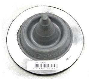 #0 Round-Base Gray EPDM Pipe Flashing (1) - Deks #0 size Round-base GRAY Color EPDM Pipe Flashings. 3-1/2 inch Diameter Base. 1-3/4 High. Pointed Closed Top. Fits 0 to 1-3/8 inch Pipes. Price/Each. (20 Boots /case; aka Deks # DF-100G)