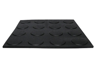 Roof Walkway Pad, Black EPDM, 30x30 in., Standard Grade - Roofing Walkway Pad. 30x30 inch Black EPDM, Round Dot Pattern. Pad has 0.100 base thickness with 0.025 inch raised round pattern (about .125 overall). EASILY CUT TO SIZE. Price/each.