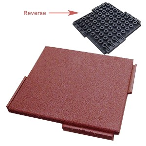 Economy Interlocking Rubber Paver Roof Walkway Pad 24x24x2 In