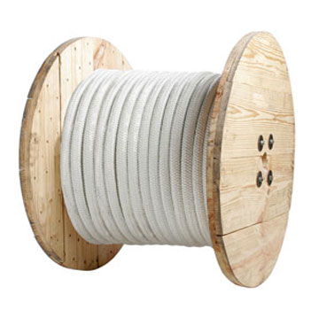 1/2 in. x 1200 ft. Double Braided White Nylon Rope - 1/2 inch x 1200 foot Double-Braided Nylon Rope, White. 7,400 lb. minimum break strength. High-performance, superior elasticity, very durable marine application rope. Price/Each.