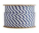 1/2 Inch x 600 ft. White/White/Blue Polypropylene Rope