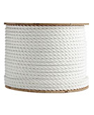 1 in. x 600 ft. Polyester Rope, Three-Strand, White Color