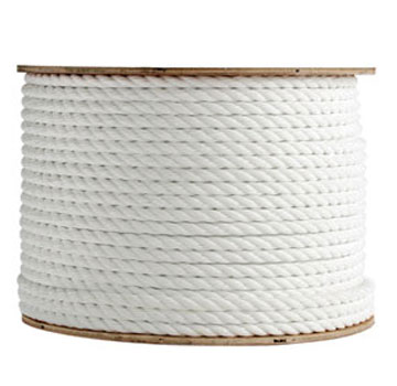 5/8 in. x 1200 ft. Polyester Rope, Three-Strand, White Color - 5/8 in. x 1200 ft. Polyester Rope, Three Strand, White Color. Offers 9,350 lb. Break Strength with Low Stretch using high grade synthetic polyester fibers. Price/Each. (aka #TWPS201200)