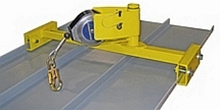 Guardian Standing Seam Rotating Temporary Anchor - Guardian #00250 Rotating Temporary Lifeline Anchor for Standing Seam Metal Roofs. Fits most 30 to 50 foot retractables (not included). Price/Each. (shipping leadtime 2-3 business days)