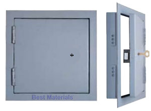 JL Steel High Security Access Panel w/Keyed Deadlock, Flush Mount, SPEFICY SIZE - JL Industry HSP Series Flush Mount Steel High Security Access Panel with Detention-Grade Deadlock, Keys, Flush Mounted 10 Gauge Steel Plate Door, Heavy-duty Detention-Grade Hinges. White Finish. USA Made. Price/Each. (see ordering notes in detail view)