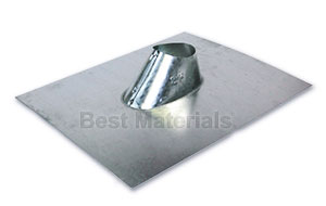 2 in. Galvanized IP Jack, Roof Pipe Flashing - 2 in. GALVANIZED ADJUSTABLE ROOF PIPE FLASHING (IP JACK). FITS FLAT TO 5/12 PITCH. PRICE/EACH.