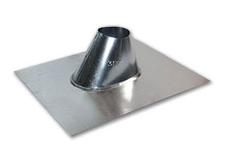 3 in. Galvanized IP Jack - 3 in. GALVANIZED ADJUSTABLE ROOF PIPE FLASHING (IP JACK). FITS FLAT TO 6/12 PITCH. PRICE/EACH.