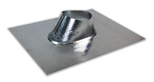 4 in. Galvanized IP Jack - 4 in. GALVANIZED ADJUSTABLE ROOF PIPE FLASHING (IP JACK). FITS FLAT TO 6/12 PITCH. PRICE/EACH.