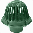 Josam 22080 9 in. Cast Iron Roof Drain with BeeHive Dome