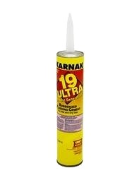 Karnak #19 Ultra Rubberized Wet/Dry Flashing Cement, 10.3 Oz. - Karnak #19 Ultra Rubberized Flashing Cement (For Wet or Dry Conditions, Vertical/Horizontal). 10.3 Oz Cartridge. Price/Each. (48/case, order full cases for discounts; Flammable, UPS Ground shipping only).