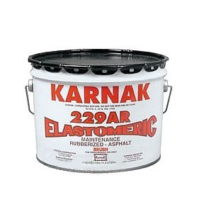 Karnak #229Ar Elastomeric Waterproof Sealant, (3G) - Karnak #229AR Elastomeric Waterproofing & Flashing Repair Mastic.. 3-Gallons/Pail. Price/Pail. (70 pails/pallet; UPS ground or truck shipment only).