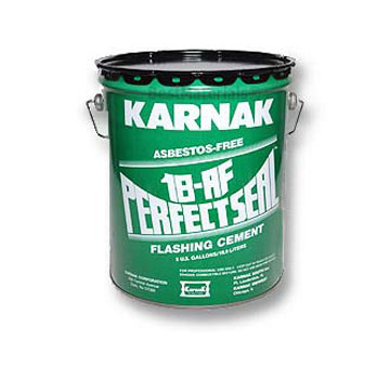 Karnak #18AF Perfectseal Plastic Cement (3G) - Karnak #18AF Perfectseal Plastic Cement, Summer Grade, for Dry Surfaces. 3-Gallons/Pail. Price/Pail.