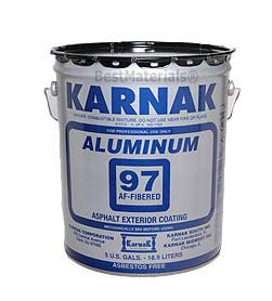 Karnak #97AF Fibered Aluminum Roof Coating, (5G) - Karnak #97AF Premium Fibered Aluminum Roof Coating, Metro-Dade Approved, FM Approved, UL Class-A Fire Rated. 5-Gallons/Pail. Price/Pail. (42 pails/pallet)