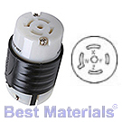 20 Amp 120-208VAC, 4 Pole 5 Wire, Electrical Connector