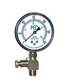 2-1/2 inch Liquid Filled Gauge with Bottom 1/4 MNPT Connection